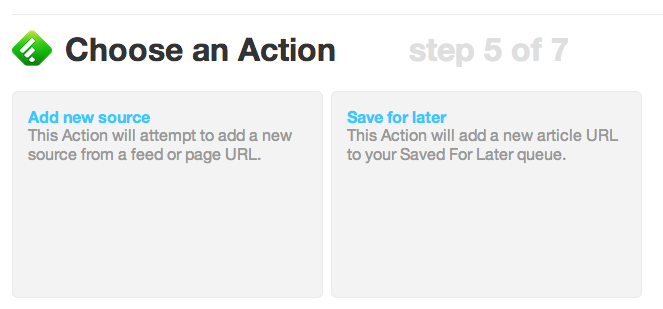 Choose your IFTTT Action